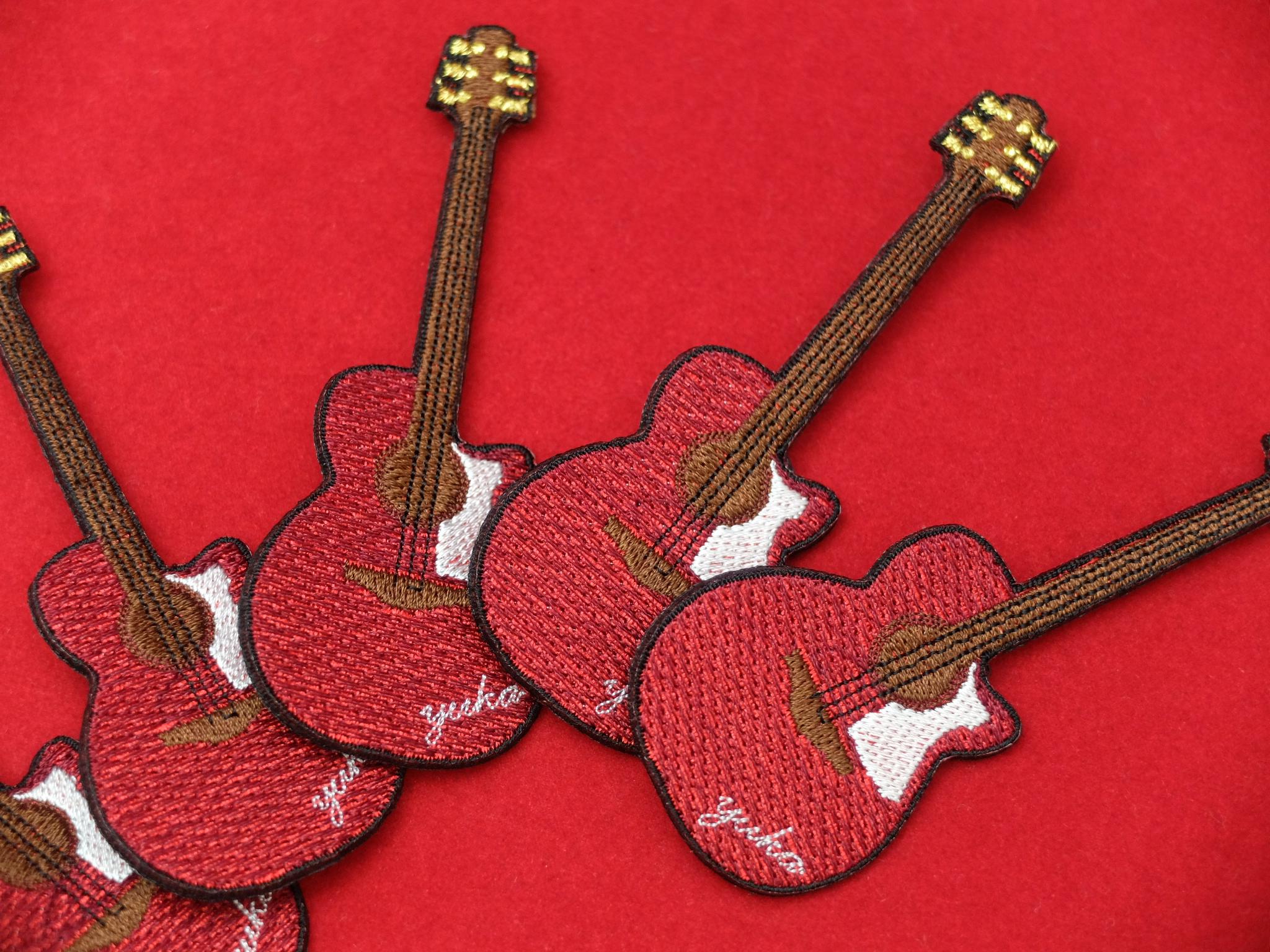 ギター 刺繍ブローチ 楽器刺繍