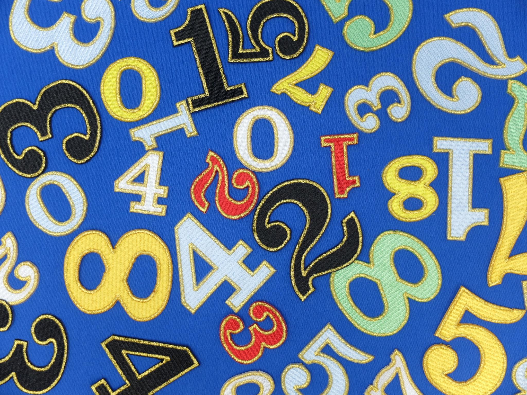 刺繍ワッペン 数字 ナンバー