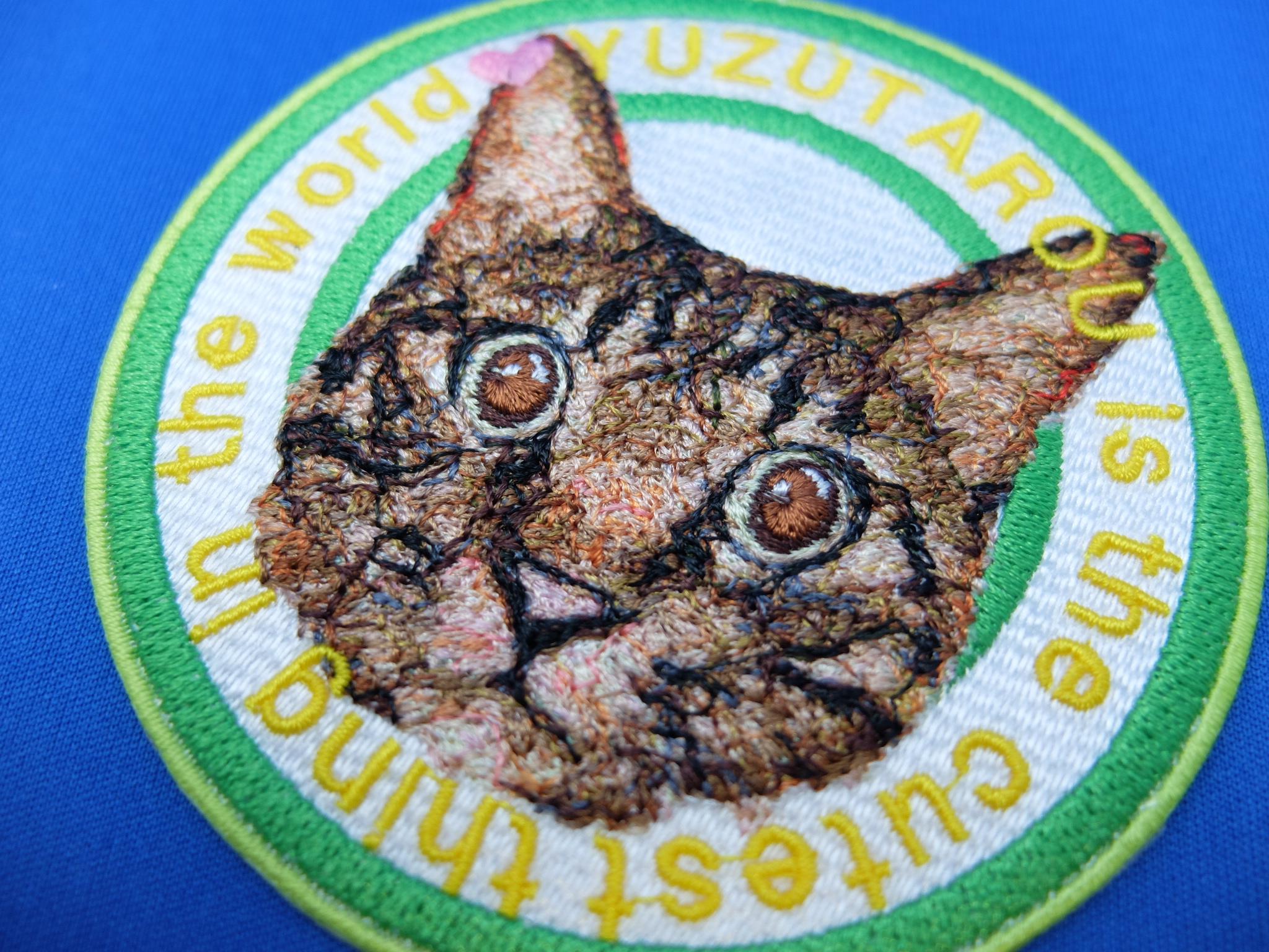 フォト刺繍 ワッペン オーダー作品 愛猫 ペット