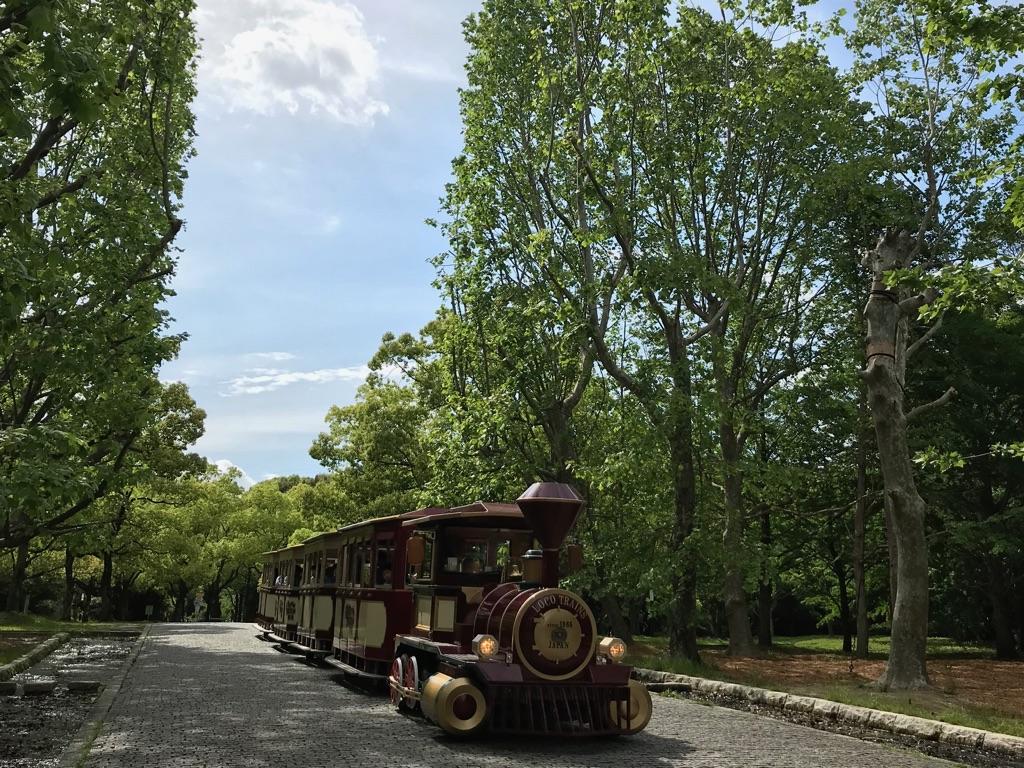 万博記念公園 大阪旅行 汽車