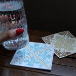 刺繍コースター ミシン刺繍