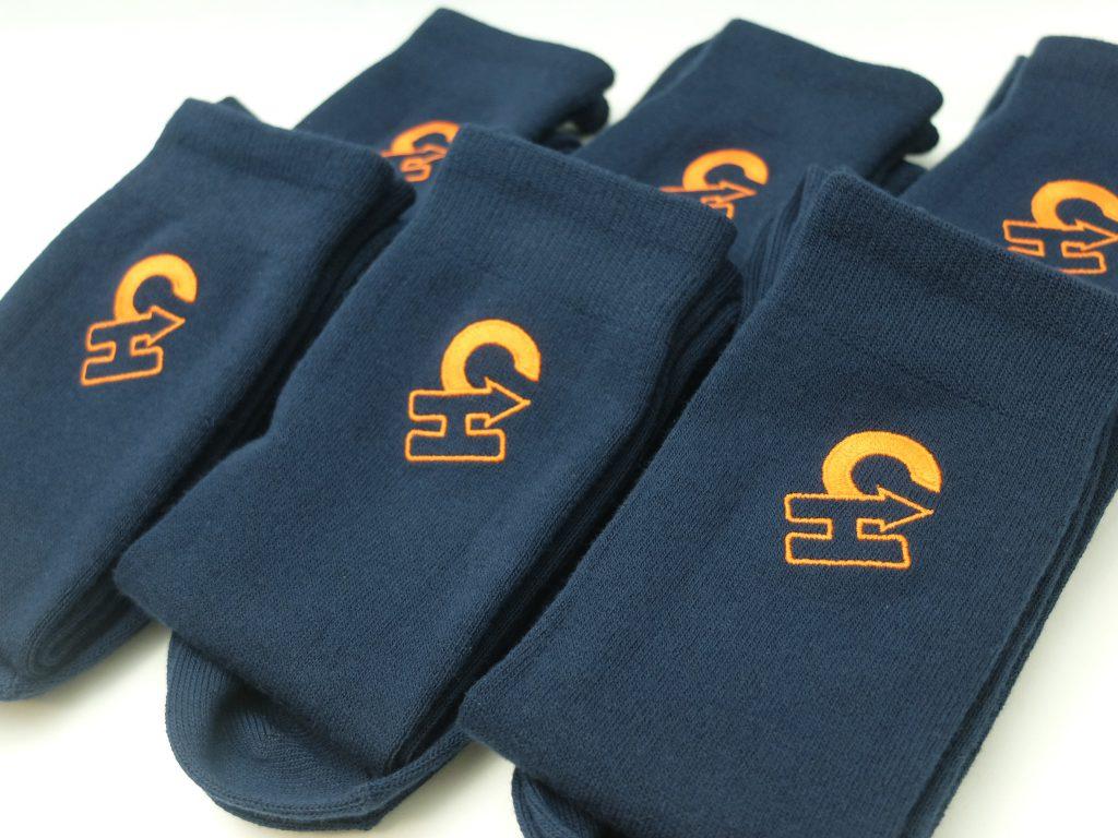オーダー刺繍 ロゴ刺繍 靴下 野球