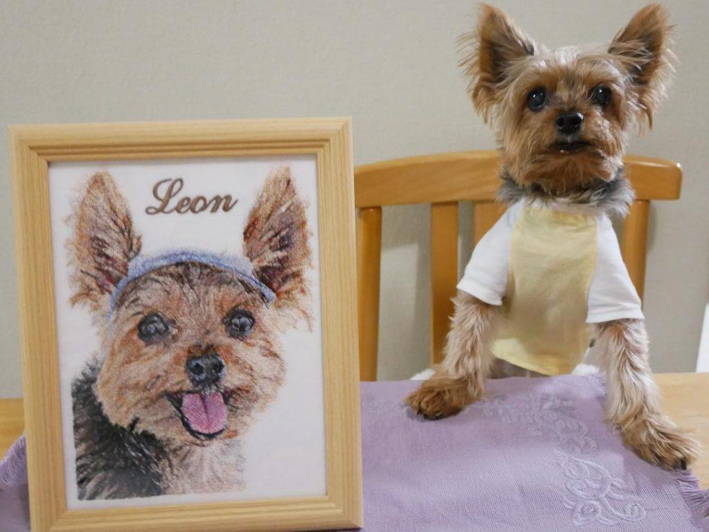 愛犬 誕生日プレゼント フォト刺繍