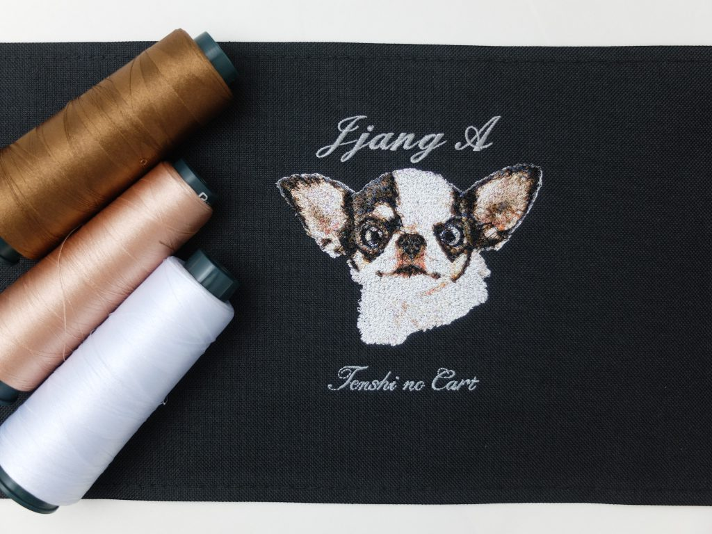 フォト刺繍 天使のカート