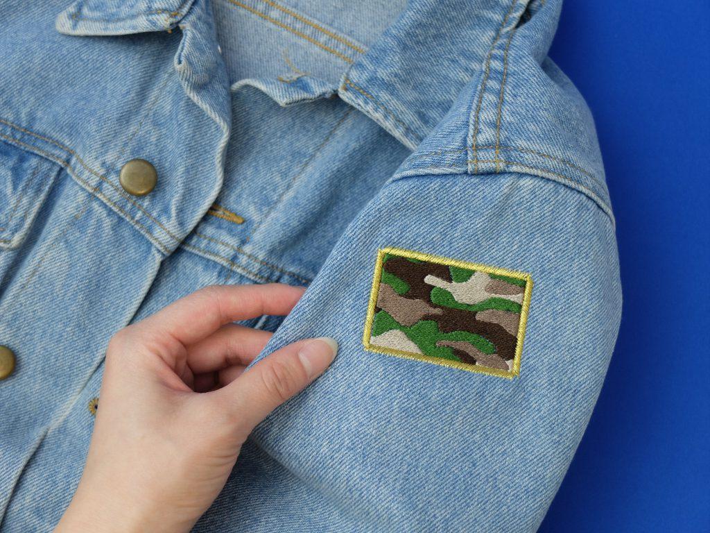 Gジャン 刺繍 迷彩