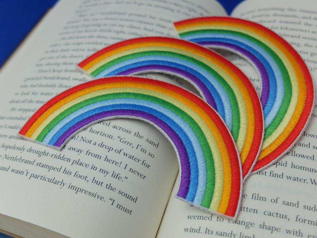 オーダー刺繍 刺繍ワッペン 虹