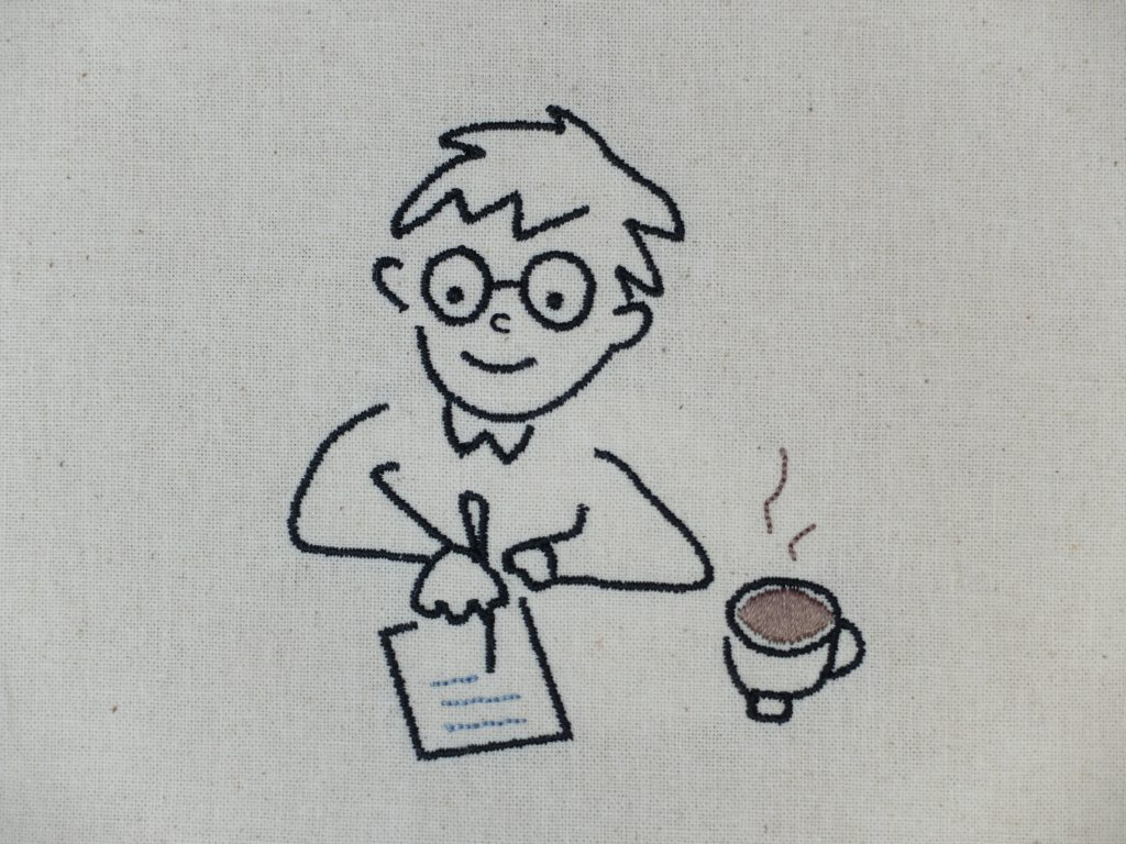 トートバッグ 刺繍 小人