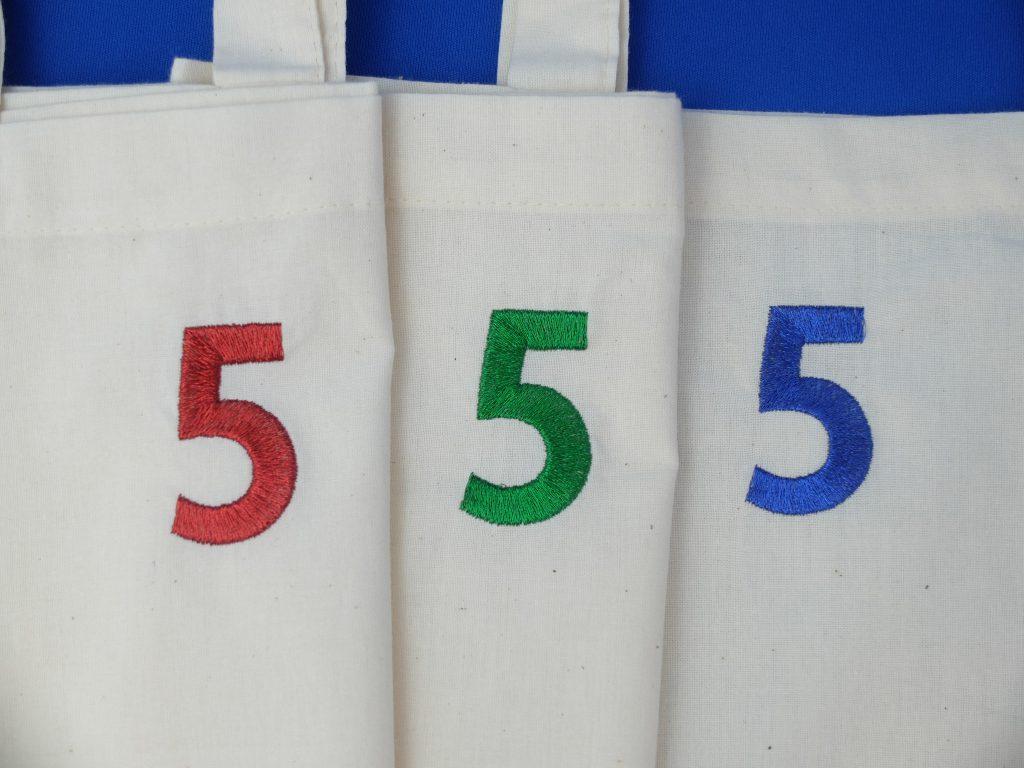 トートバッグ 5周年 刺繍