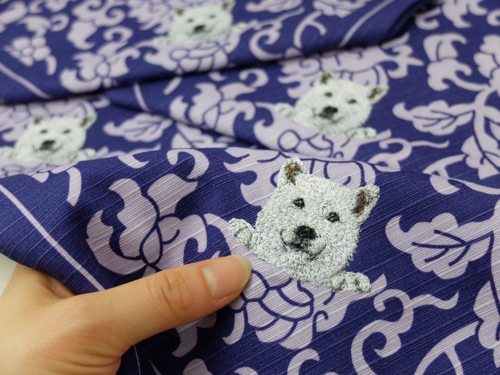 フォト刺繍 犬 風呂敷 贈答品