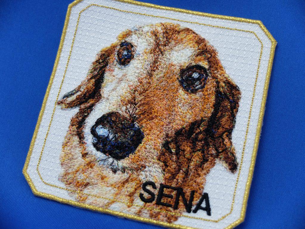 フォト刺繍 ワッペン 愛犬