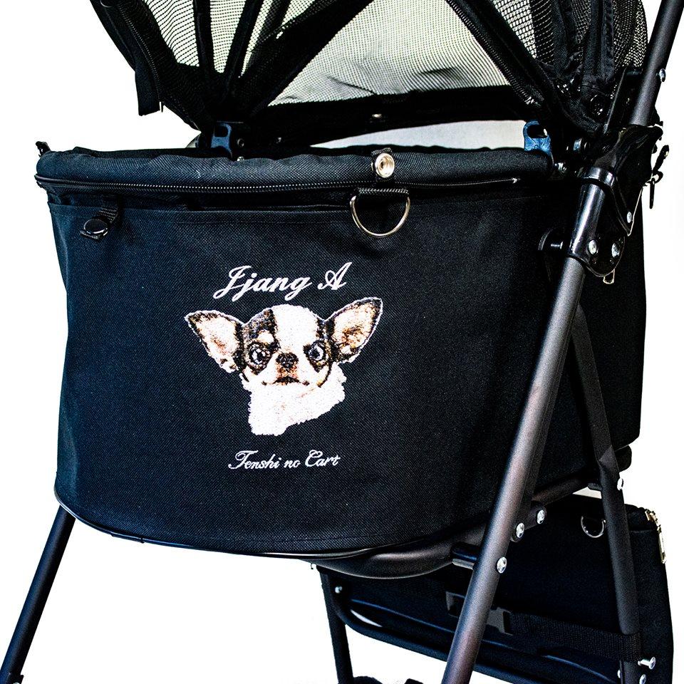 フォト刺繍 天使のカート ペットカート