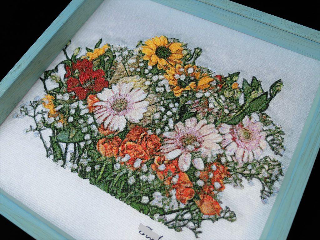 フォト刺繍 ブーケ
