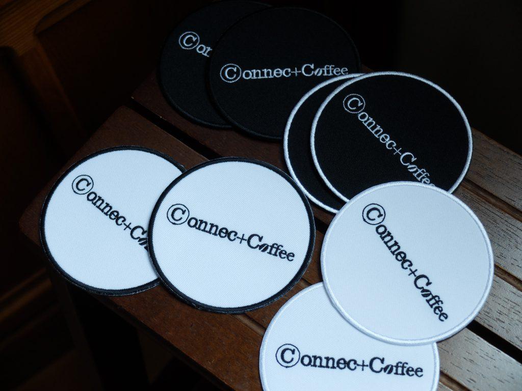 コースター ロゴ刺繍 コネクトコーヒー 福岡カフェ
