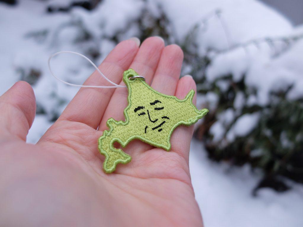 ハンサム北海道 刺繍ストラップ 雪