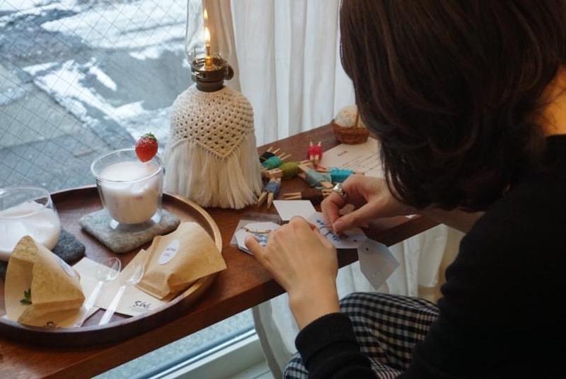 紙刺繍 ワークショップ smallthingscoffee