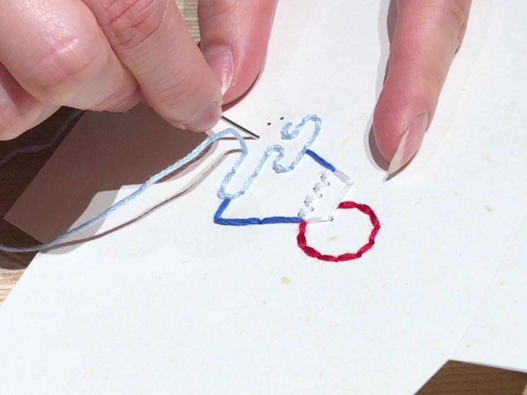 紙刺繍 ポチ袋 富士山