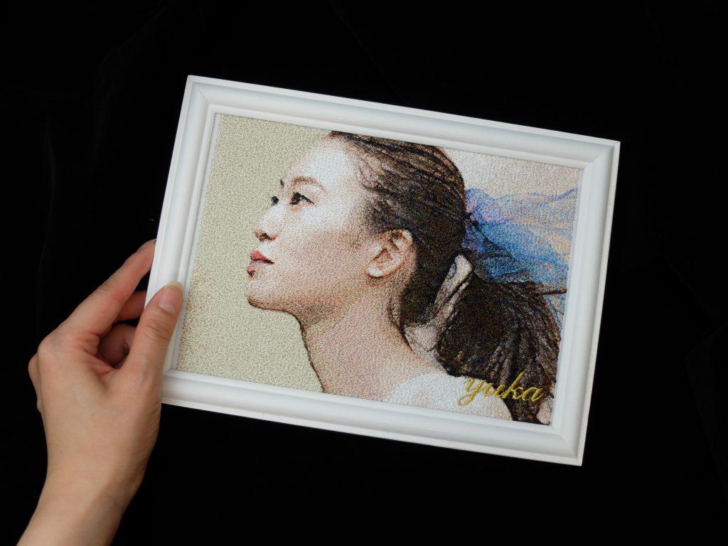 フォト刺繍 アーティスト写真 近藤佑香
