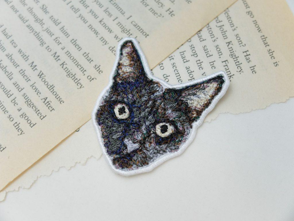 フォト刺繍 ワッペン 猫