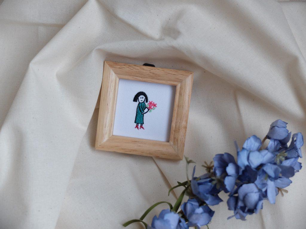 小人刺繍 花束