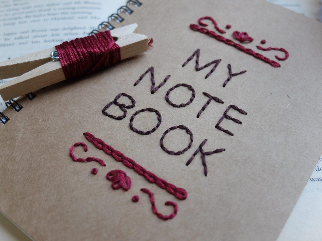 紙刺繍 ノート