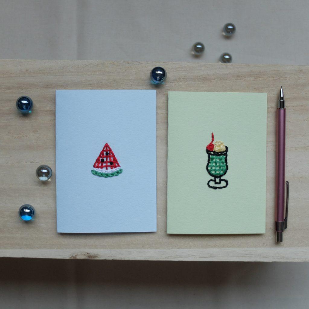 紙刺繍 メッセージカード