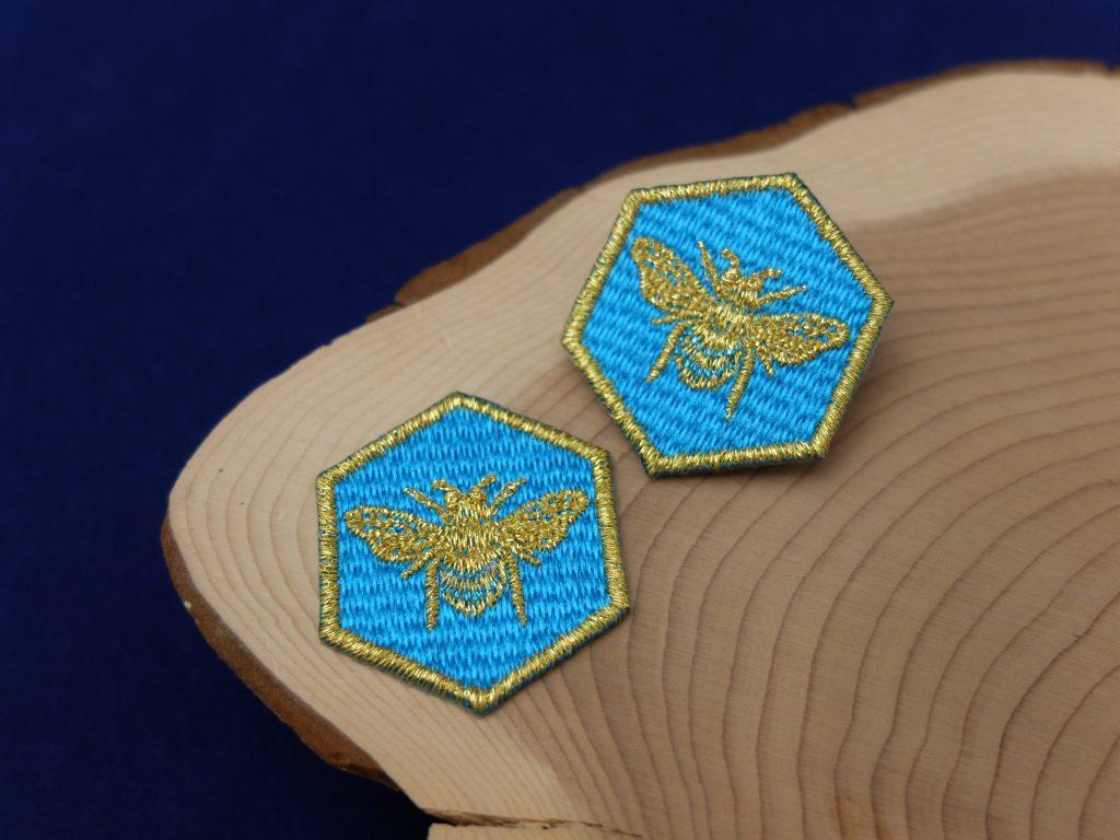 ブルービー 青い蜂 刺繍