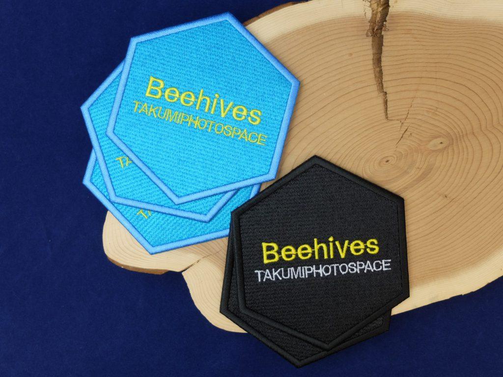 beehives 刺繍コースター