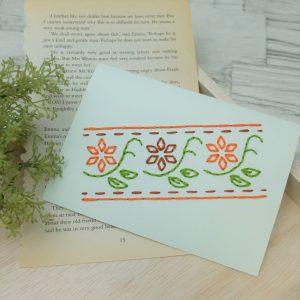 紙刺繍 作り方