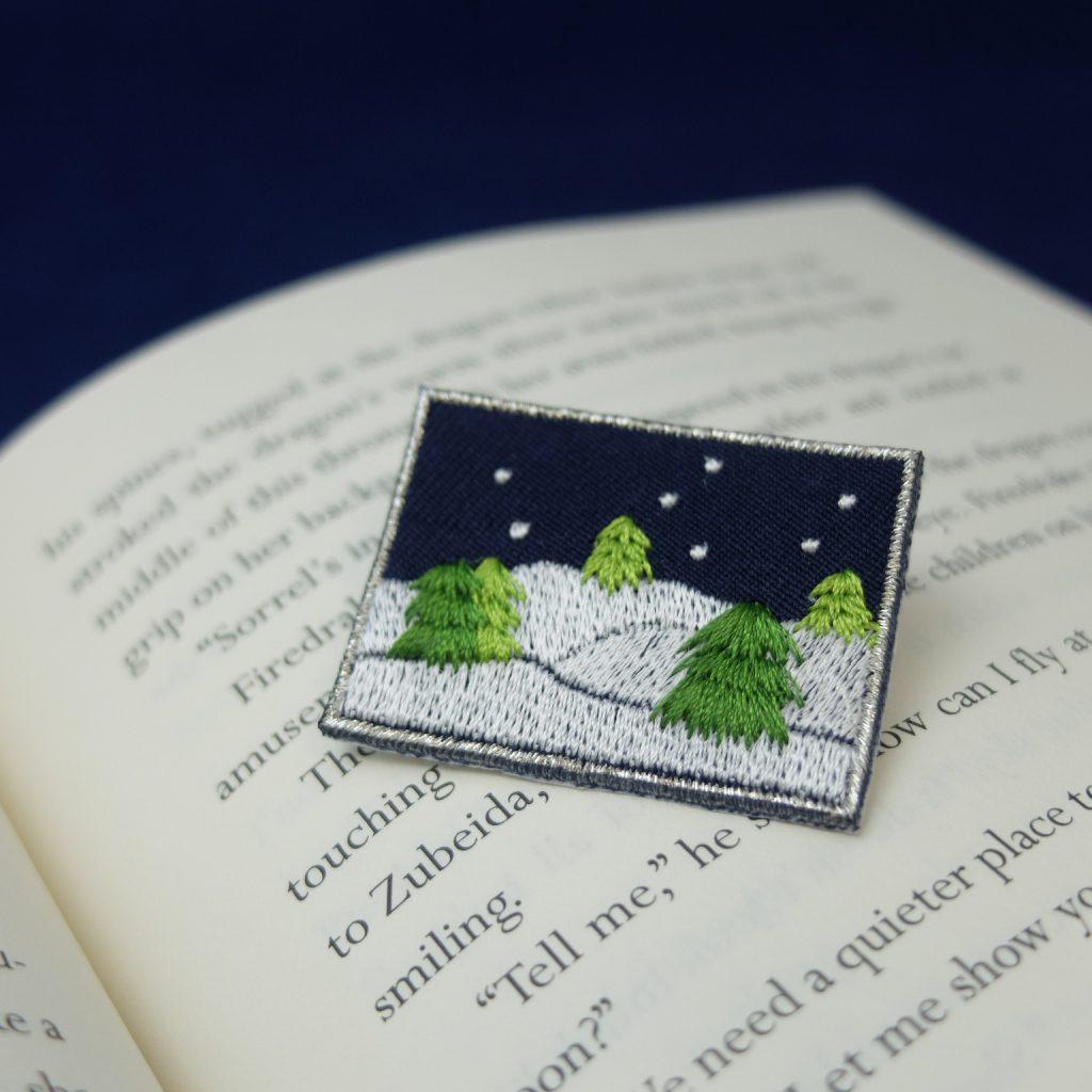 刺繍ブローチ クリスマス 冬