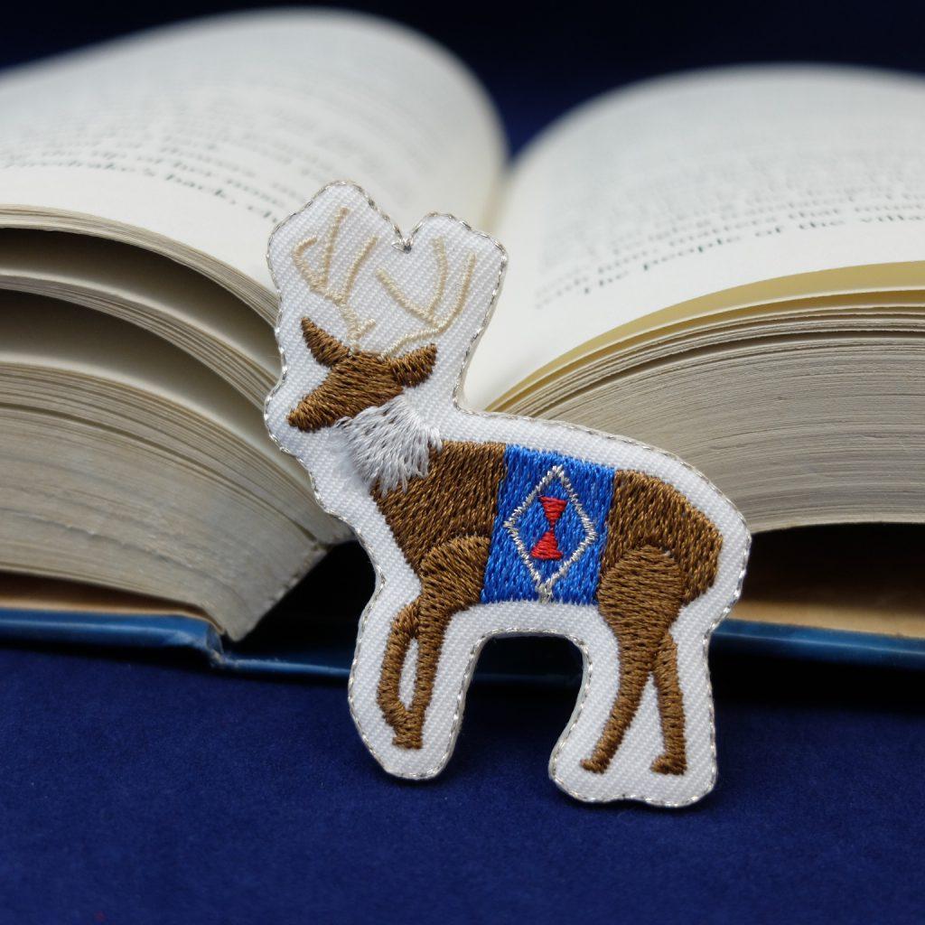 刺繍ブローチ クリスマス トナカイ